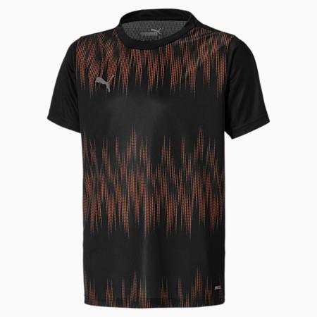 ftblNXT voetbalshirt voor jongeren, Puma Black-Shocking Orange, small