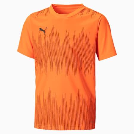 ftblNXT Youth Football Jersey, Shocking Orange-Asphalt, small