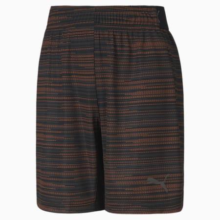 ftblNXT Graphic dryCELL Kid's Shorts, Puma Black-Shocking Orange, small-IND