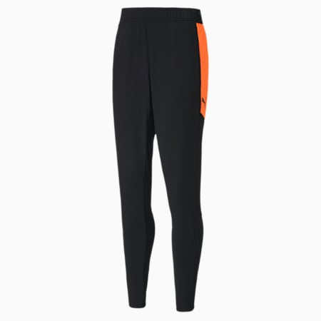 ftblNXT Knitted herenbroek, Puma Black-Shocking Orange, small