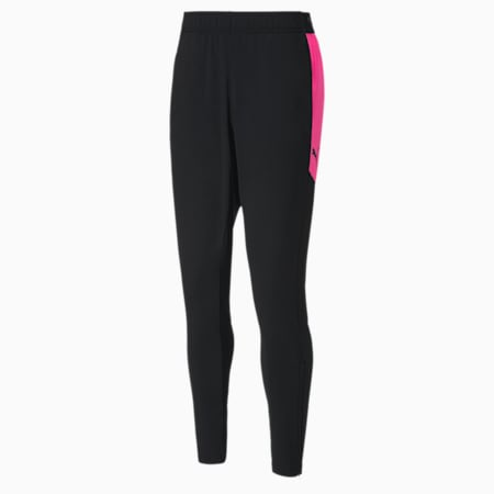 ftblNXT Knitted Slim Fit Men's Pants, Puma Black-Luminous Pink, small-IND