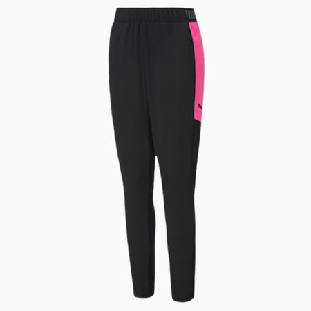 ftblNXT Knitted Youth Pants, Puma Black-Luminous Pink, small