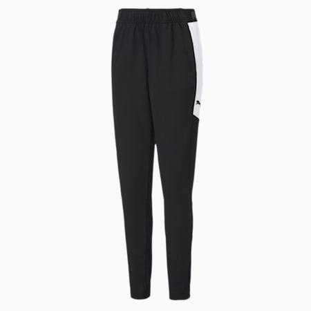ftblNXT Knitted Slim Fit Kid's Pants, Puma Black-Puma White, small-IND