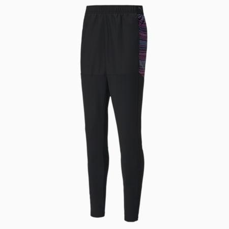 ftblNXT Pro Men's Slim Fit Football Sweatpants, Puma Black-Luminous Pink, small-IND