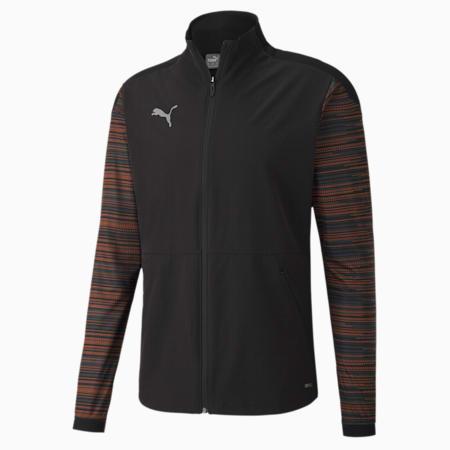 풋볼 넥스트 프로 자켓, Puma Black-Shocking Orange, small-KOR