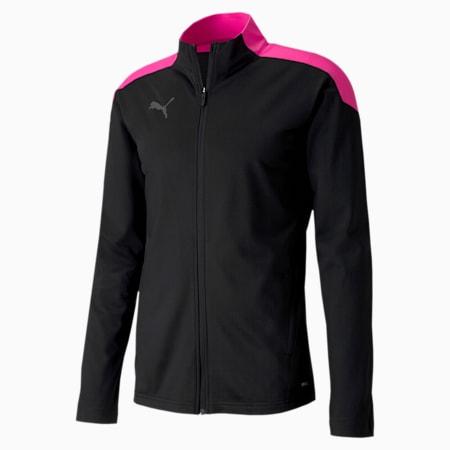 ftblNXT Men's Track Jacket, Puma Black-Luminous Pink, small