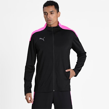 ftblNXT Men's Track Jacket, Puma Black-Luminous Pink, small