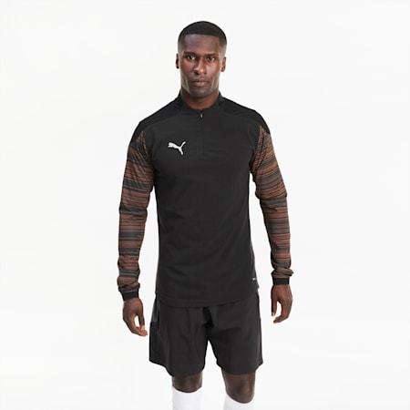 ftblNXT Quarter Zip Men's Top, Puma Black-Shocking Orange, small