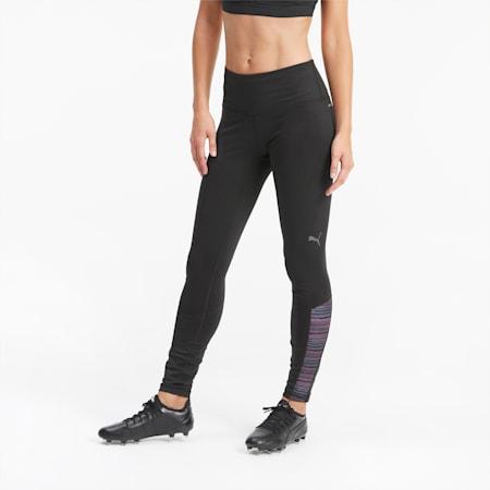 Damskie legginsy piłkarskie ftblNXT, Puma Black-Blue Glimmer-Lumi, small
