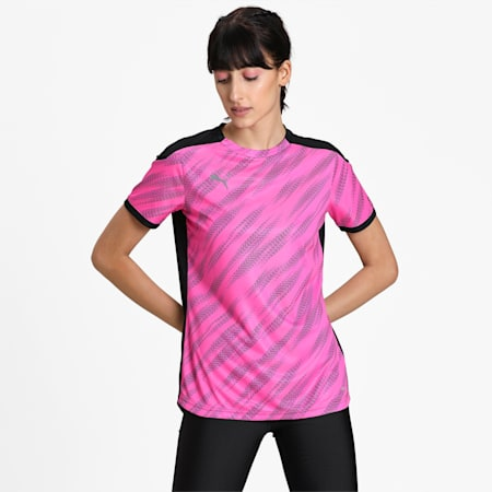 ftblNXT Damen Trainings-T-Shirt mit Grafik, Puma Black-Blue Glimmer-Lumi, small