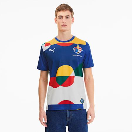 Męska piłkarska koszulka sportowa z krótkim rękawem France, Limoges-Puma White, small