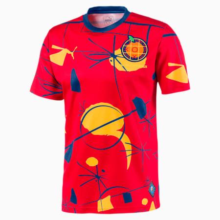 Męska piłkarska koszulka sportowa z krótkim rękawem Spain, High Risk Red-Limoges, small
