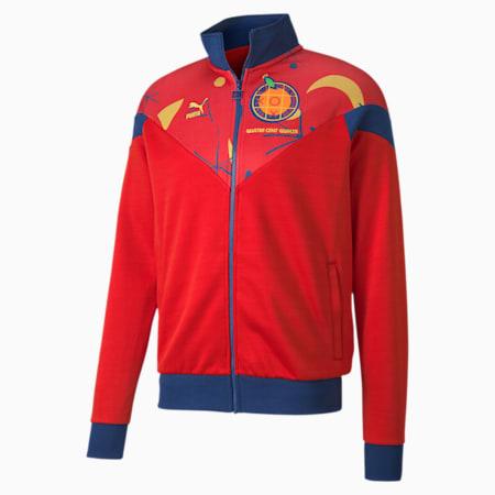 Spain Men's Track Jacket, High Risk Red-Limoges, small