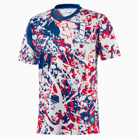 England Short Sleeve Men's Football Jersey, Limoges-High Risk Red, small