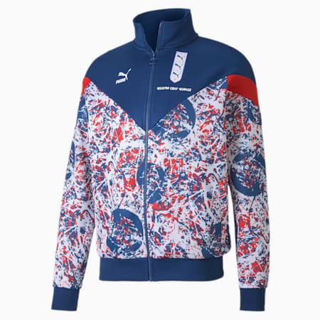 France Men's Track Jacket, Limoges-High Risk Red, small