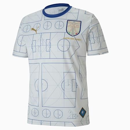 Męska piłkarska koszulka sportowa z krótkim rękawem Italy, Birch-Limoges, small