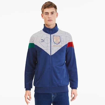 Italia Men's Football Track Jacket, Birch-Limoges, small