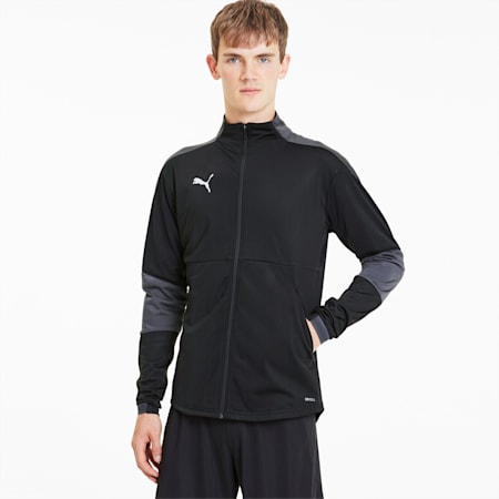 TEAMFINAL21 サッカー トレーニング ジャケット, Puma Black-Asphalt, small-JPN