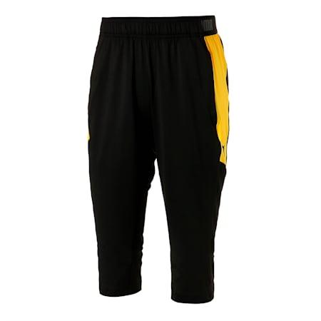 FTBLNXT サッカー 3/4 パンツ, Puma Black-ULTRA YELLOW, small-JPN