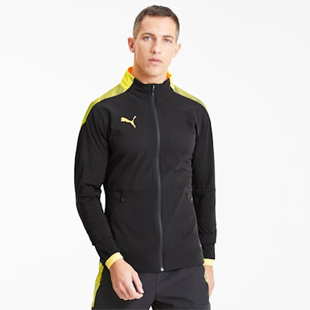 FTBLNXT サッカー PRO ジャケット, Puma Black-ULTRA YELLOW, small-JPN