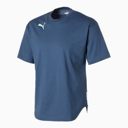FTBLNXT ハイブリッド 半袖 ロゴ Tシャツ, Dark Denim, small-JPN