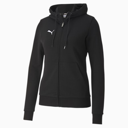 teamGOAL 23 Casuals Hooded Girl's Football Track Jacket, Puma Black, small-IND