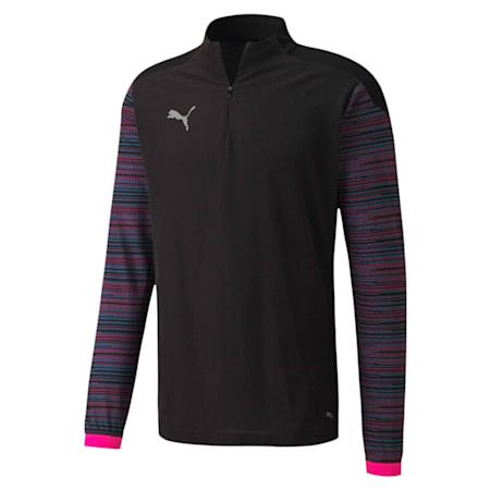 FTBLNXT サッカー 1/4 トップス, Puma Black-Luminous Pink, small-JPN