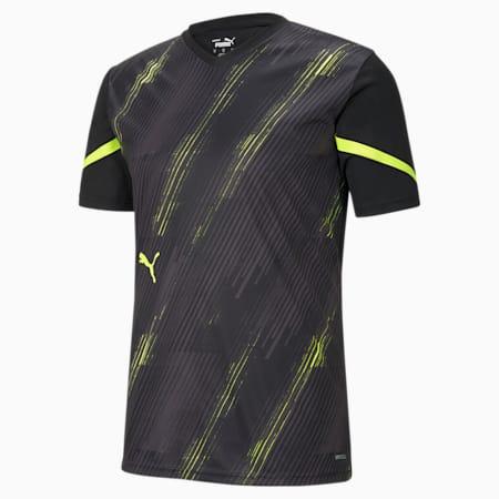 Camiseta individualCUP para hombre, Puma Black-Yellow Alert, pequeño