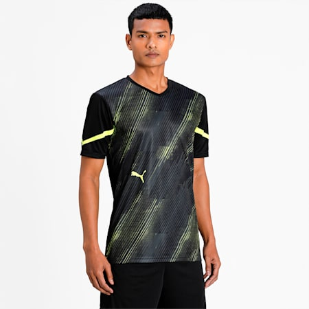 individualCUP Men's Football Jersey, Puma Black-Yellow Alert, small-IND