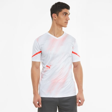Camiseta de fútbol individualCUP para hombre, Puma White-Red Blast, small