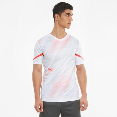 Męska koszulka piłkarska individualCUP, Puma White-Red Blast, small