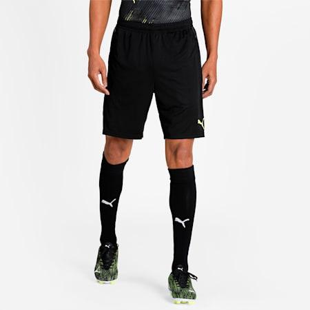 individualCUP Men's Football Shorts, Puma Black-Yellow Alert, small-IND