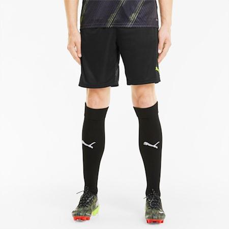 individualCUP Men's Football Shorts, Puma Black-Yellow Alert, small-SEA
