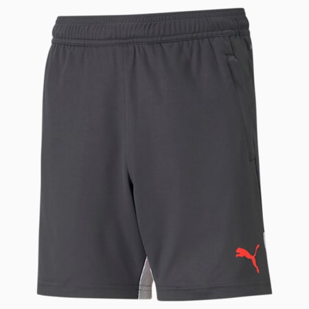 individualCUP Youth Football Shorts, Asphalt-Red Blast, small-IND