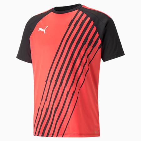 Camiseta de fútbol estampada teamLIGA para hombre, Sunblaze-Puma Black, pequeño