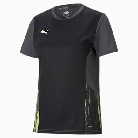 individualCUP Damen Fußballtrikot, Puma Black-Asphalt-SOFT FLUO YELLOW, small