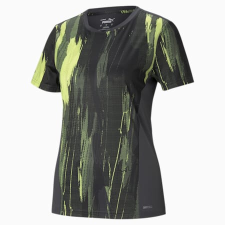 individualCUP Graphic Women's Football Tee, Black-Asphalt- FLUO YELLOW, small-GBR