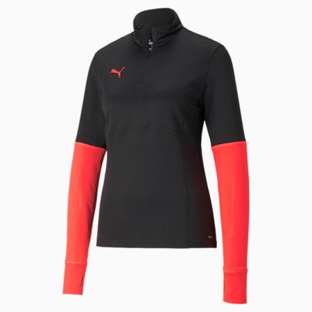 individualCUP Quarter-Zip Damen Fußballshirt, Puma Black-Sunblaze, small