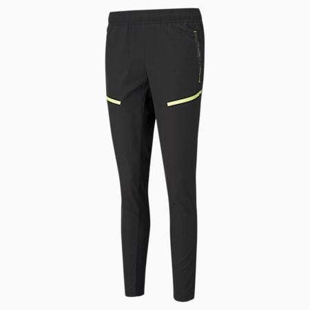 individualCUP Training Women's Football Pants, Black-Asphalt-FLUO YELLOW, small-GBR