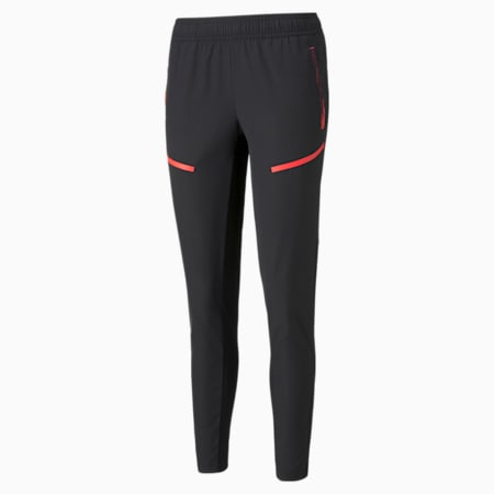 individualCUP Training Women's Football Pants, Puma Black-Sunblaze, small