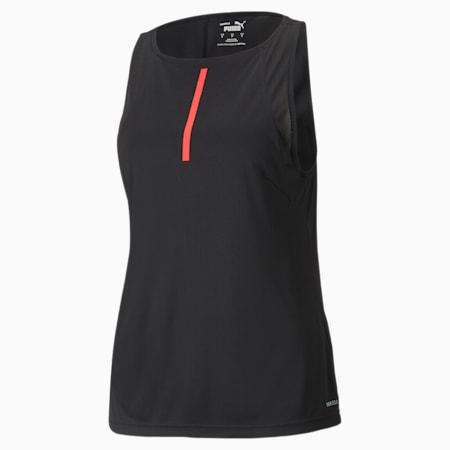 individualCUP Damen Fußball-Tank-Top, Puma Black-Sunblaze, small