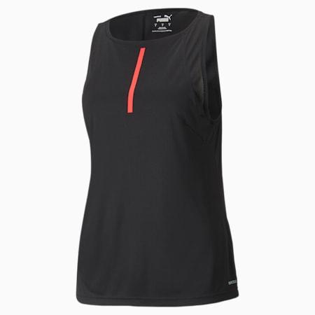 individualCUP Women's Football Tank Top, Puma Black-Sunblaze, small-GBR