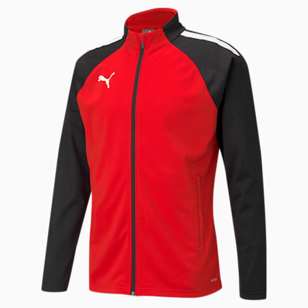 teamLIGA Training Men's Football Jacket, Puma Red-Puma Black, small