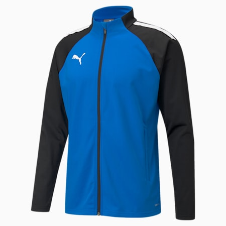 Męska piłkarska kurtka treningowa teamLIGA, Electric Blue Lemonade, small