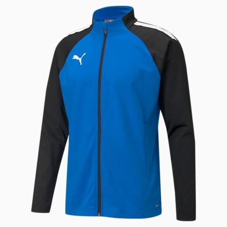 teamLIGA Training Men's Football Jacket, Electric Blue Lemonade, small