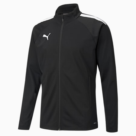 Męska piłkarska kurtka treningowa teamLIGA, Puma Black-Puma White, small