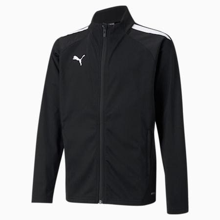 teamLIGA Training Youth Football Jacket, Puma Black-Puma White, small-GBR