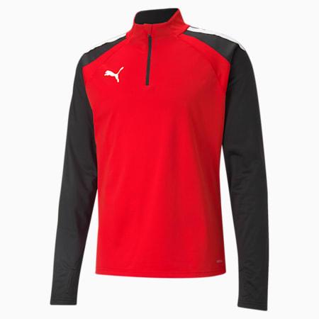 teamLIGA Quarter-Zip Men's Football Top, Puma Red-Puma Black, small
