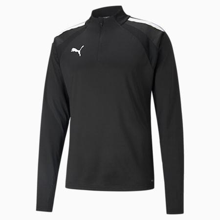 teamLIGA Quarter-Zip Men's Football Top, Puma Black-Puma White, small