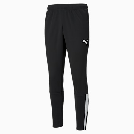 teamLIGA Training Men's Football Pants, Puma Black-Puma White, small-GBR